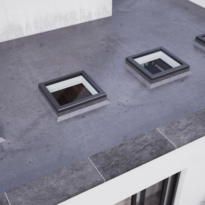 Smarts Aluminium Flat Rooflight - Anthracite Grey 1000mm x 1000mm