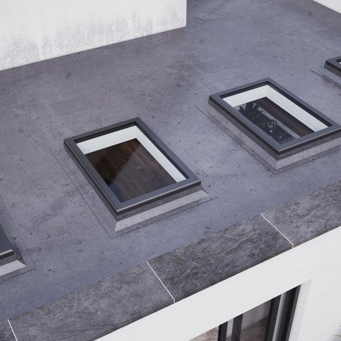Aluminium Flat Rooflight - Anthracite Grey 1000mm x 1500mm