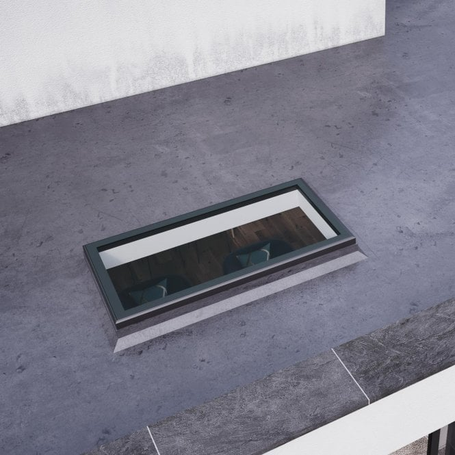 Smarts Aluminium Flat Rooflight - Anthracite Grey 1000mm x 2000mm