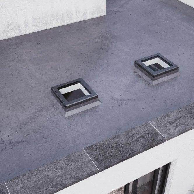 Aluminium Flat Rooflight - Anthracite Grey 750mm x 750mm