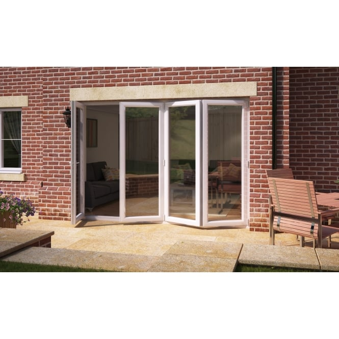 Aspect Model 12 UPVC Bi-Fold Door 3590mm x 2090mm - 1 Door Left 3 Slide Right