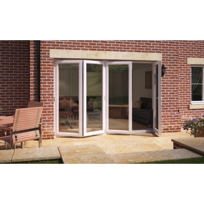Aspect Model 12 UPVC Bi-Fold Door 3590mm x 2090mm - 3 Slide Left 1 Door Right