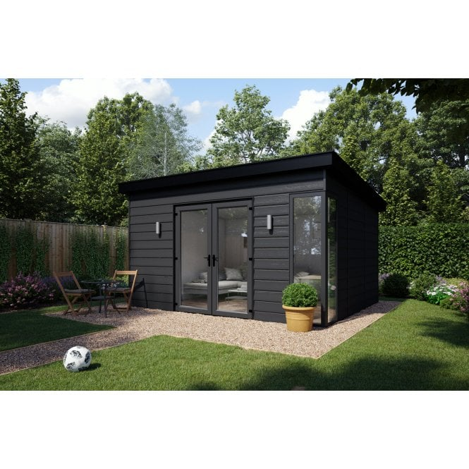 ATT Fabrications Garden Building Anthracite Grey 4800mm Wide x 2550mm Depth