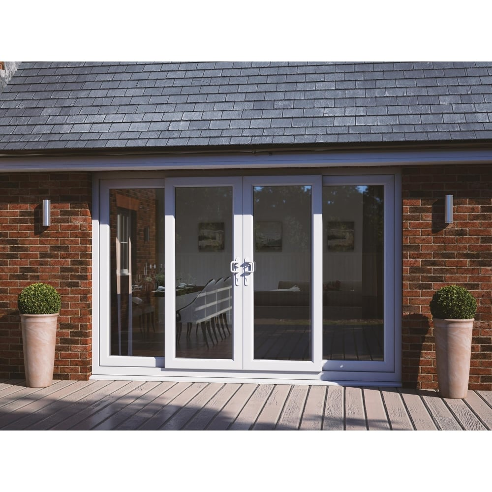 UPVC Sliding Patio Door Set with two centre sliding panels