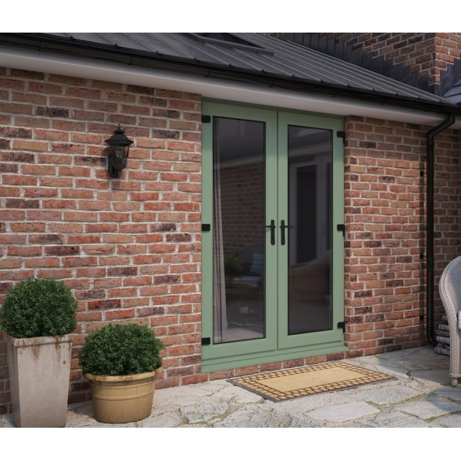 ATT Fabrications Model 5 Chartwell Green French Door Set Dual Handle 1490mm x 2090mm