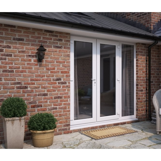ATT Fabrications Model 5 French Door (Single Handle) with Wide Sidelite (Overall size 2090mm x 2090mm)