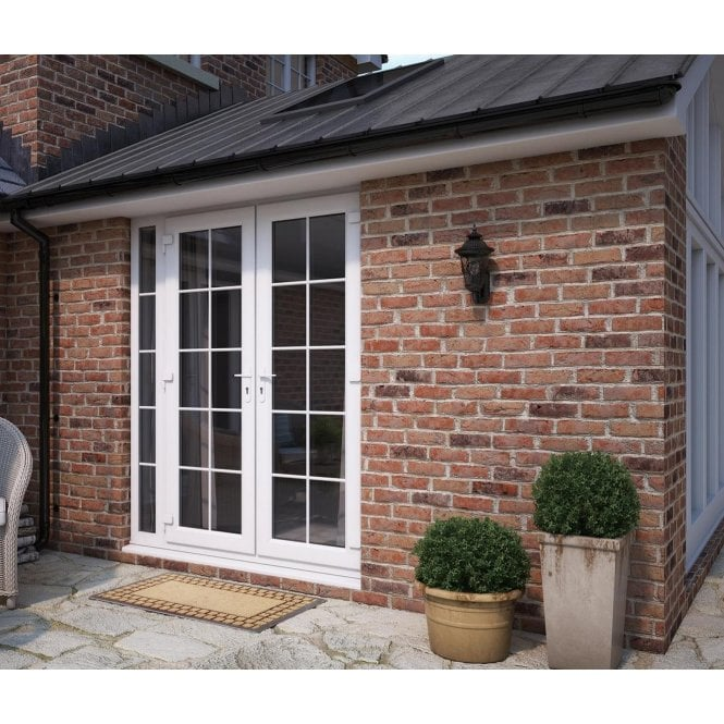 ATT Fabrications Model 6 French Door Georgian Dual Handle with Narrow Sidelite (Overall size 2090mm x2090mm)