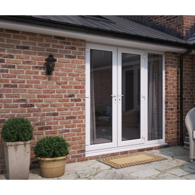 ATT Fabrications Model 6 French Door White (Dual Handle) + 1 x Wide Sidelite (Overall size 2390mm x 2090mm)