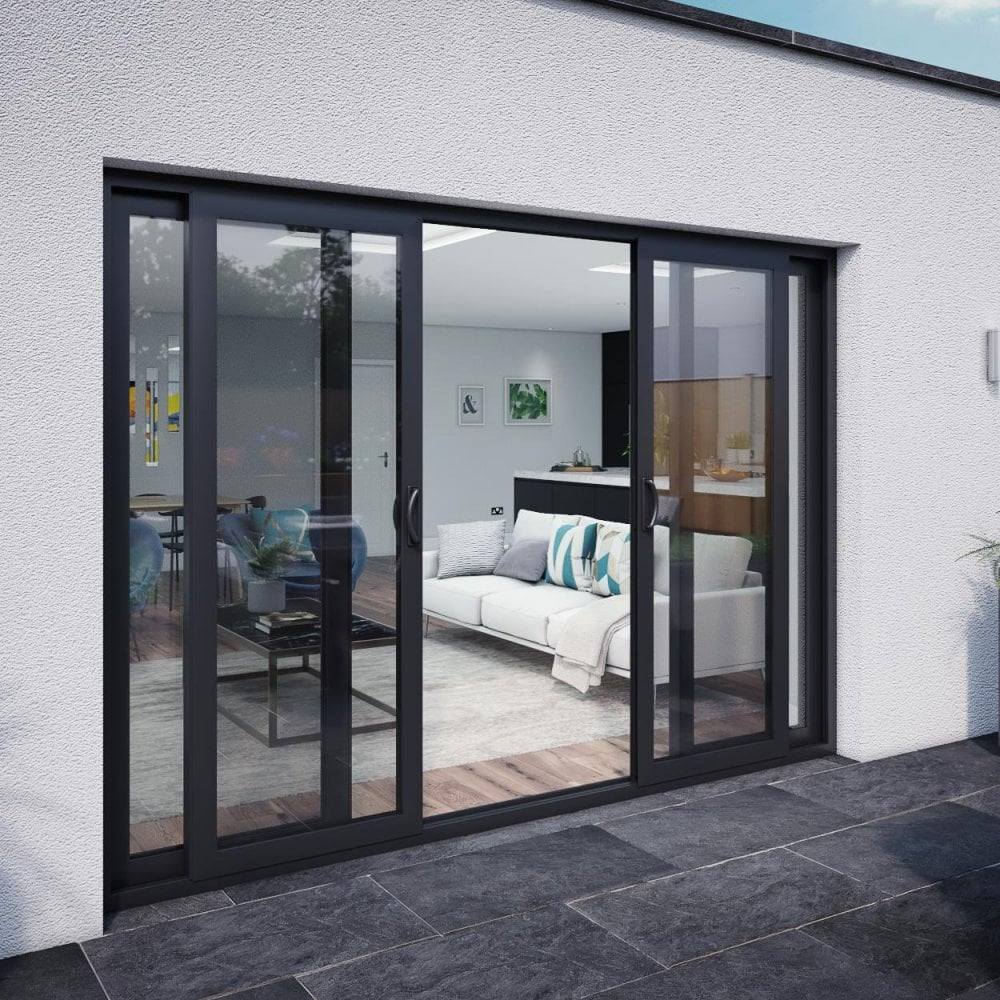 Smarts M12 Aluminium Patio Door Set 3590mm x 2090mm 4 door - 2 ... on