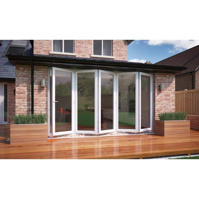 Smarts Model 12 Aluminium - Bi-Fold Door 3590mm x 2090mm - 5 Door Slide Right