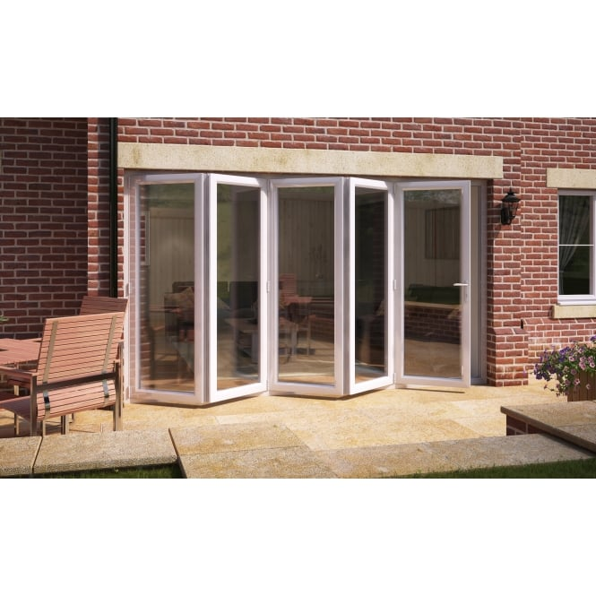 Aspect Model 12 UPVC Bi-Fold Door 3590mm x 2090mm - 5 Doors Slide Left