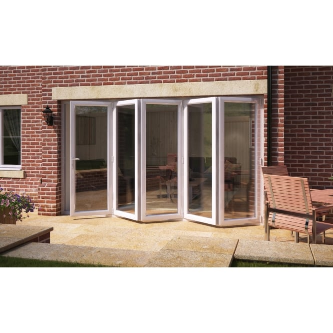 Aspect Model 12 UPVC Bi-Fold Door 3590mm x 2090mm - 5 Doors Slide Right