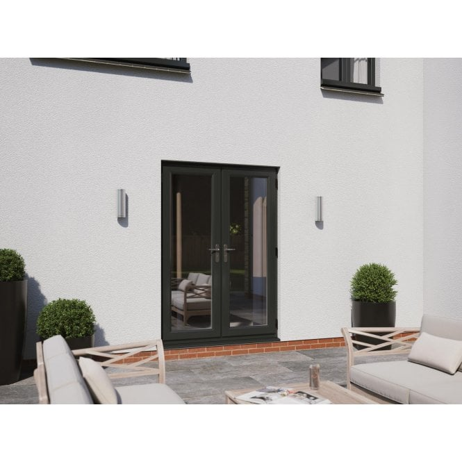 Smarts Model 4 Aluminium French Door Set - Overall size 1190mm x 2090mm