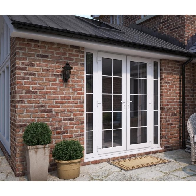 ATT Fabrications Model 5 French Door Georgian Dual Handle with Narrow Sidelite (Overall size 2090mm x2090mm)