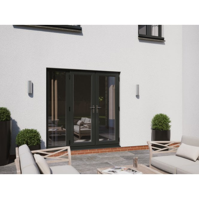 Smarts Model 6 Aluminium French Door + 1 x 600 Sidelite Overall size 2390mm x2090mm