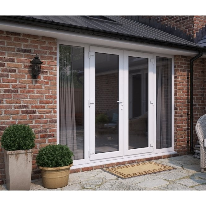 ATT Fabrications Model 6 French Door (Single Handle) with 2 Wide Sidelites (Overall size 2990mm x 2090mm)