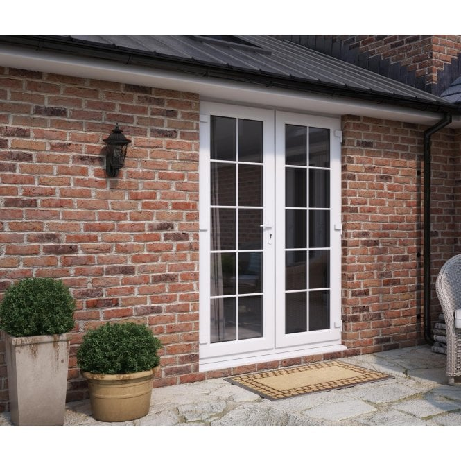 ATT Fabrications Model 6 WHITE Single Handle GEORGIAN French Door Set - 1790mm x 2090mm
