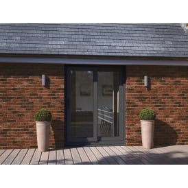 half off b44f6 b8a2c UPVC Sliding Patio Doors Anthracite Grey Out & White In ...