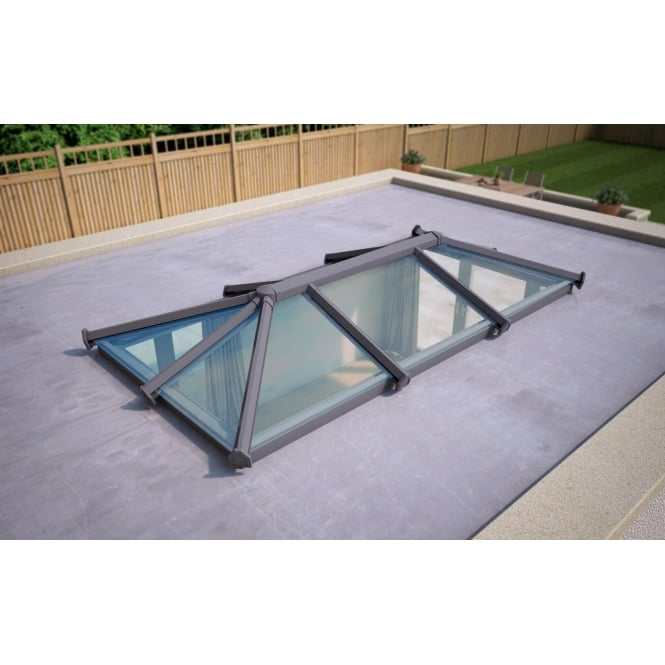 Skypod Glass Roof Lantern - Anthracite Grey - Activ Blue Glass - 1500mm x 3000mm