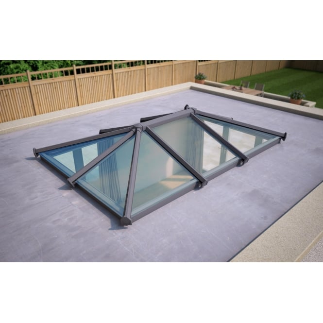 Skypod Glass Roof Lantern - Anthracite Grey - Activ Blue Glass - 2000mm x 3000mm