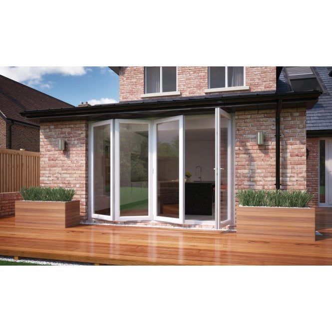Smarts Model 10 ALUMINIUM - WHITE Bi-Fold Door 2990mm x 2090mm