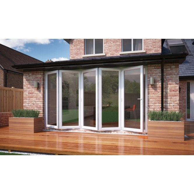 Smarts Model 12 Aluminium - Bi-Fold Door 3590mm x 2090mm - 5 Door Slide Left