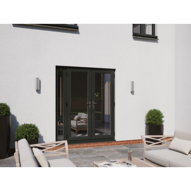 Smarts Model 4 Aluminium French Door + 1 x 300 Sidelite - Overall size 1490mm x2090mm