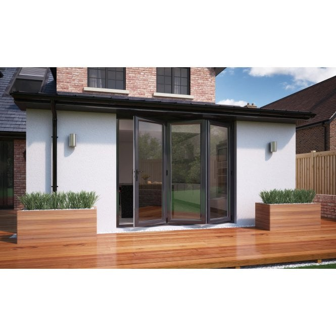 Smarts Model 6 ALUMINIUM - ANTHRACITE GREY Bi-Fold Door 1790mm x 2090mm