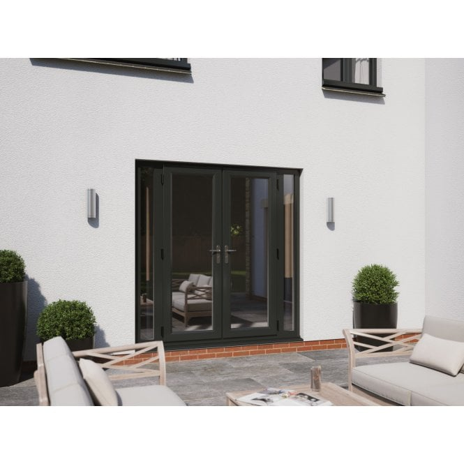 Smarts Model 6 Aluminium French Door + 2 x 300 Sidelites Overall size 2390mm x2090mm
